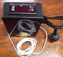 "Make your own temperature controlled fermenting fridge or cheese cave simply by using this 16amp Temp Controller with Inbuilt Alarm. By plugging your fridge into the cooling power socket and a heater panel inside the fridge to the heating power socket, you can completely control the climate for your fermenter or maturing cheeses.  Features:      Broad temperature operating range (-45°C – 120°C) and high accuracy.     Comes with included temperature probe     0.1°C Accuracy     High and Low Temperature Alarm with Optional Alarm Delay     Celsius and Fahrenheit display option     Independent Heating and Cooling Delay Start Control     16amp Heating or Cooling capacity     Inbuilt alarm     ""Fridge On"" or ""Heater On"" Indicator Icon"