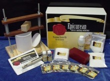 Within the Epicurean Premium Cheese Making Kit you will find all the basic equipment, ingredients and instructions to enable you to make your own home made Cheddar, Swiss, Mozzarella, Parmesan, Gouda cheeses to list a few. The ingredients in this kit will produce up to 20 batches.