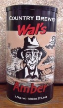 "Wal's Amber Ale is a delicious ale with deep amber colour, creamy head and distinct citrus notes to its flavour and aroma. Fresh hops added to the concentrate give an added hop ""punch"" to the Wal's Range of beers."