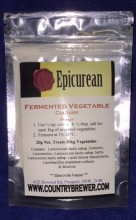 A mesophilic culture addition that aids in the fermentation process when making fermented vegetable products such as Sauerkraut and Kimchi