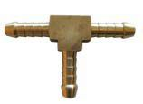 Brass 6mm T-piece for splitting gas line