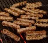 Chevap (aka Cevapi, Cevapcici) is a type of skinless sausage or kebab made from minced beef combined with a blend of spices.