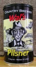 "Wal's Pilsner is a light coloured, crisp yet bitter Australian style pilsner with a slightly dry finish.  Fresh hops added to the concentrate give an added hop ""punch"" to the Wal's Range of beers."