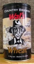 """Wal's Wheat is a pale, cloudy beer with tangy, fruity and spicy flavours and aroma. This refreshing beer is perfect for a hot Summer's day. Fresh hops added to the concentrate give an added hop """"punch"""" to the Wal's Range of beers."""