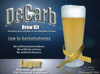 DeCarb Lager is a full-bodied yet low calorie beer with a malty flavour. The richness of the grain addition to this beer combines with the unique hop flavour to produce a very European style lager.