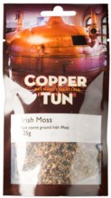 To combat protein haze, brewers add Irish Moss to the boiler when making all-grain (mash) or extract beers. Irish Moss is a sea weed extract the function of which is to encourage protein molecules to aggregate into larger particles so that they will settle out of solution.