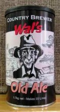 """Wal's Old Ale is a dark beer of distinction. With mild roasted malt flavour and a hint of dark chocolate, this Aussie favourite has been carefully formulated to impress the most avid of dark ale lovers.  Fresh hops added to the concentrate give an added hop """"punch"""" to the Wal's Range of beers."""